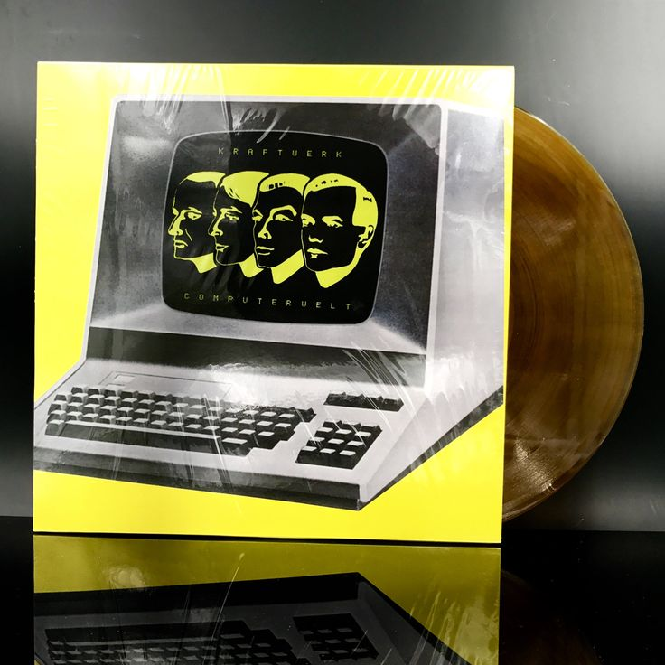 RARE: KRAFTWERK - Computer World / Computerwelt - Amber Colored Vinyl Record - Electronic LP - Electro Synth-Pop Music On Vinyl by VinylLoversUnite on Etsy