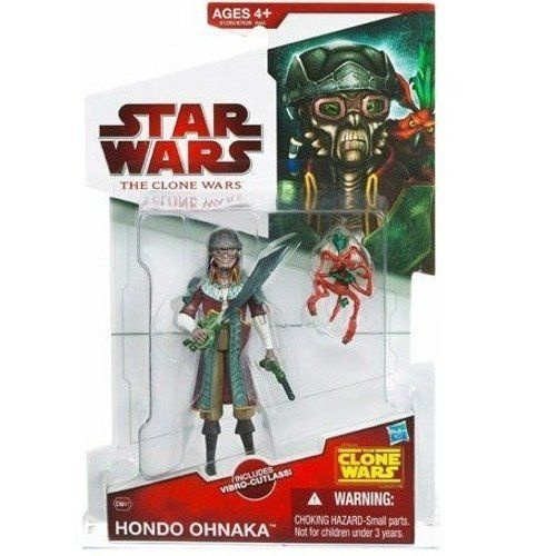 "Star Wars The Clone Wars Hondo Ohnaka CW41 - 3-3/4 Inch Scale Action Figure by Hasbro. $19.66. For Ages 4 & Up. Hondo Ohnaka is figure # CW41 and comes with Pilf Mukmuk and a vibro-cutlass. Star Wars: The Clone Wars 3 3/4"" animated action figure line from Hasbro. Hondo Ohnaka is the leader of a band of Weequay pirates and is always accompanied by Pilf Mukmuk, his Kowakian monkey lizard. The pirate chief captures Count Dooku and plans to demand a large ransom for the return..."