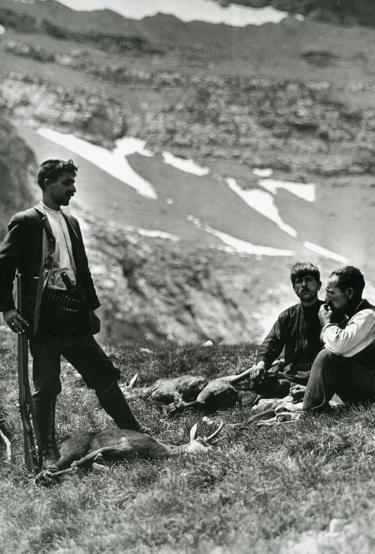 Όλυμπος, Από αριστερά, ο Φρεντερίκ Μπουασονά, ο Χρήστος Κάκαλος και ο Ντανιέλ Μπο-Μποβί στο βουνό, 1913