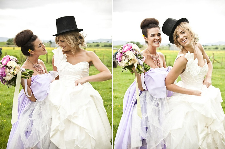 Bridesmaid Odette and Bride Catriona Goodey 20.11.2010  Dress by Anna Schimmel  Flowers by Kat McLoad  Photography by Danelle Bohane  Make up by Alicia Lovich  Hair by Amelia Rush