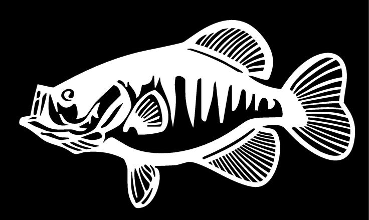 Crappie Fishing Silhouettes Vectors Clipart Svg