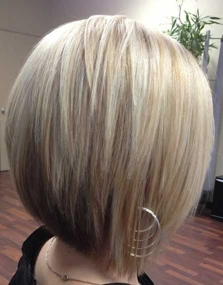 Brown Underneath and blond on top-12 Short Bob Haircut Styles-4