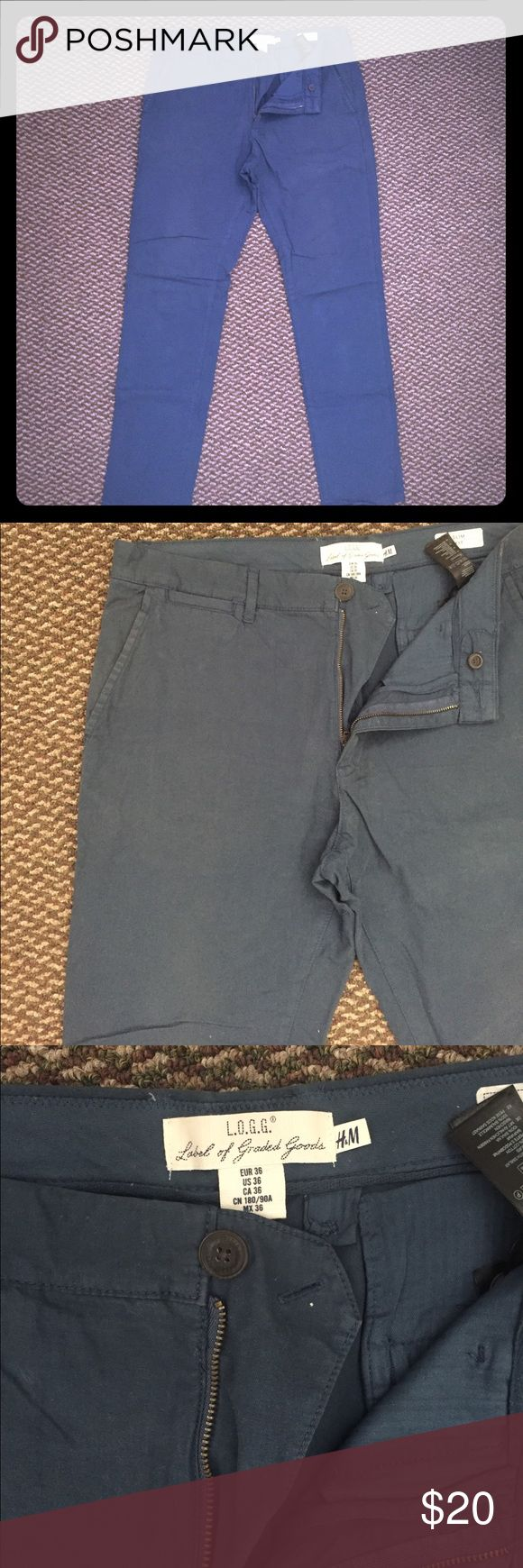 H&M Blue Chino Pants Sz. 36 Used Chino Pant H&M Pants Chinos & Khakis