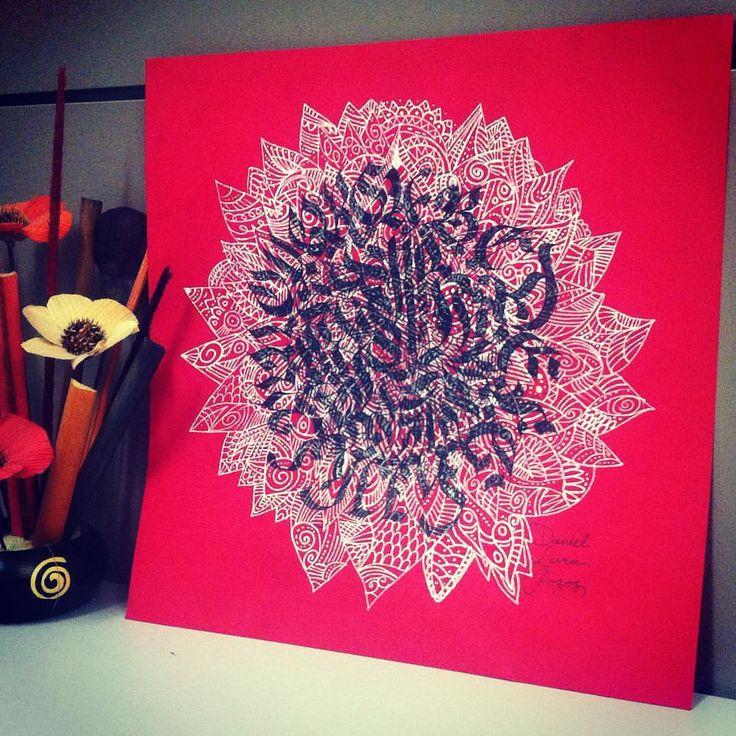 Mándala caligráfico y zentangle #letrasgóticas #caligrafíamoderna #caligrafía #mandala #mandalastyle #mandalas #zentangle #handmadeletter #gótica #pilotparallelpen #pilot #pilot #ink #inkstagram #zentangleart #calligraphy