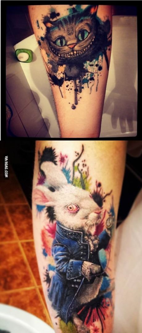 I heard you like Alice in Wonderland! So I present you my tattoos: