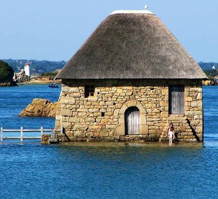 Moulin a maree du Birlot, Ile de Brehat, Bretagne, Cotes d'armor