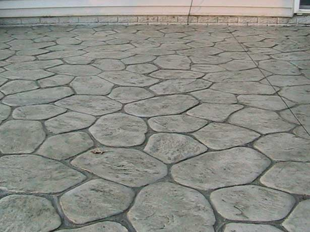 Stamped Concrete Made To Look Like Stone Curb Appeal