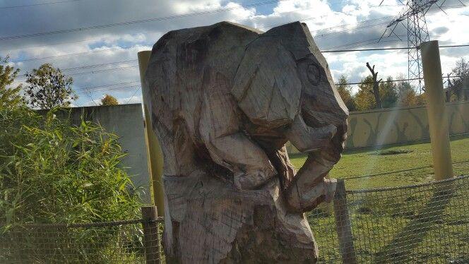 Olifant uit hout gesneden, Nuenen