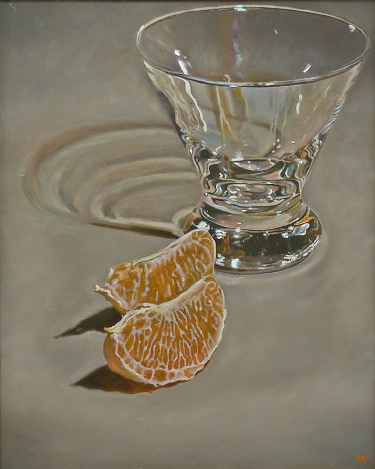 """Today's painting for you: """"Orange Slices and Glass"""", Oil on Canvas, 30x24 inches, 2008 I often have the sneaking feeling that I'm not supposed to like my older paintings - especially those that I made close to the beginning of my career. That's because I've presumably improved somewhat in the intervening years. While it's true there are some paintings from that time that I just would not show today, there are many - this one included - that I still like tremendously. I hope..."""