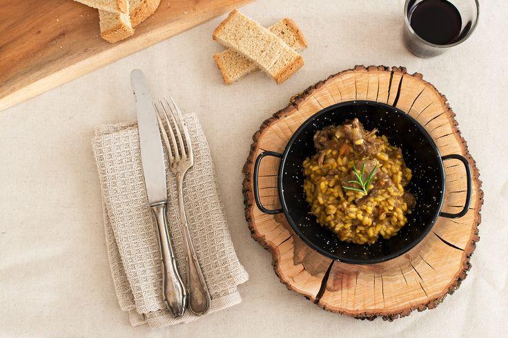 Arroz con rabo de toro. Ingredientes: arroz, rabo de toro Miplato, caldo de rabo de toro, agua, cebolla, ajo, aceite de oliva virgen extra y sal.  No contiene alérgenos.
