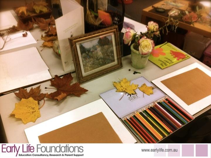 Walker Learning School- Fall colours art provocation-Nice