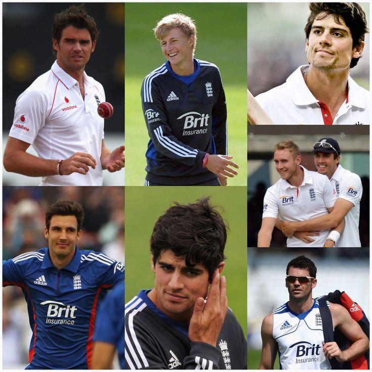 The main reason why I love cricket :) Alastair Cook, Jimmy Anderson, Joe Root, Steven Finn, Stuart Broad!