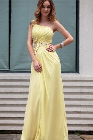 Spring Daffodil Thin Empire Floor Length Elegant & Luxurious Apple Misses Fall Prom Dress