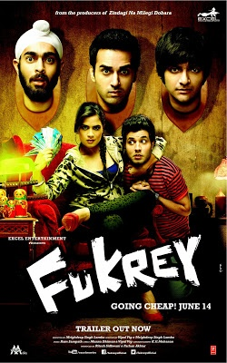 Fukrey : Movie Review - Fukrey is the story of four restless and hapless souls, running after their individual desires, brought together by one dream, which turns their not so simple life upside down.