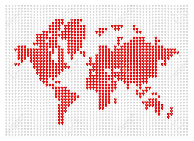 World Map Knitted For Your Design Royalty Free Cliparts, Vectors, And Stock Illustration. Pic 27151554.