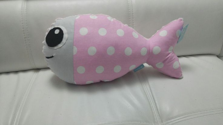 Urocza różowo-szra poducha rybka ❤/ Pink-grey, fish pillow for kids. Cute❤