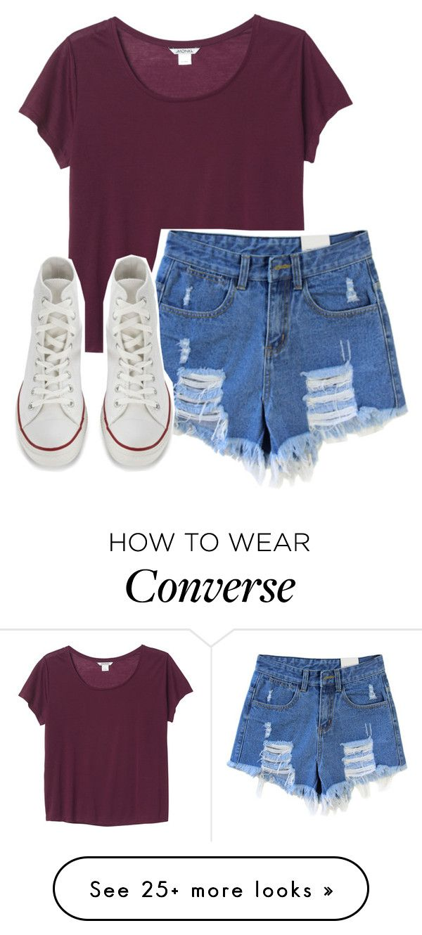 """""""everything's a mess when you're away"""" by fatunicorn1 on Polyvore featuring мода, Monki и Converse"""