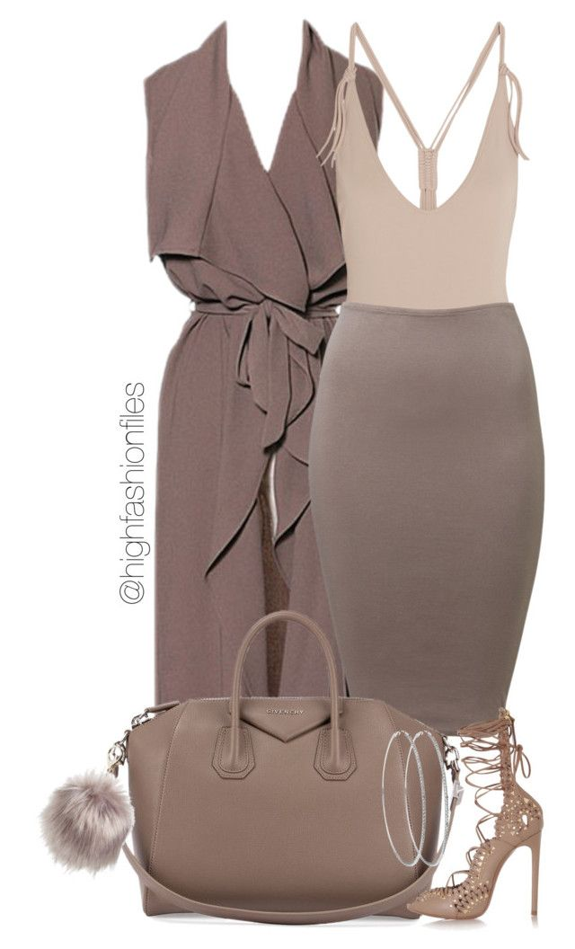 """Taupe x Nude"" by highfashionfiles ❤ liked on Polyvore featuring Eres, Oscar de la Renta, Givenchy, Alaïa and Nila Anthony"