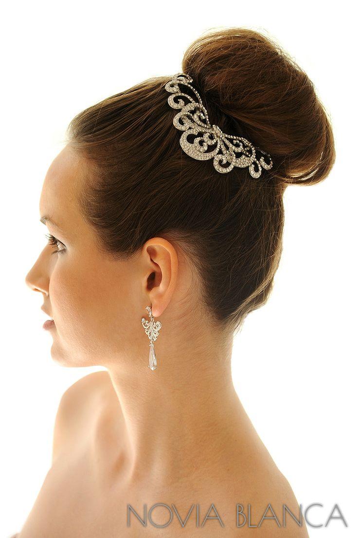 bridal comb and earrings  by www.novia-blanca.pl grzebień i kolczyki ślubne NOVIA BLANCA