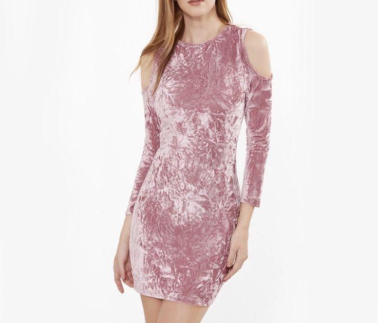 Vestido velvet palo de rosa disponible en tallas S y M