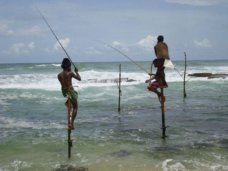 Rybáři na Srí Lance #SriLanka