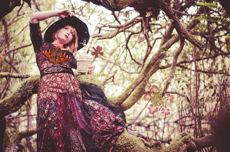 'Gypsy Witchy' Photography: Blair Alexander Massie (B.A Marauder) blairalexander.tu... | Concept/Design/Styling/Makeup: Alice Halliday etsy.com/shop/alicehalliday | Hair: Faye Mazani | Model: Alice Halliday | Location: Liss Ard Estate, Skibbereen, Co. Cork, Ireland