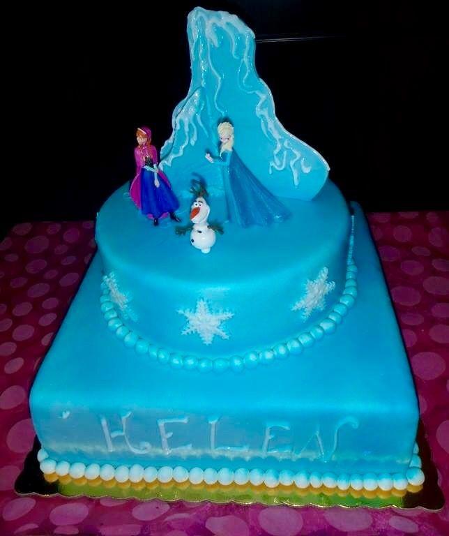 Frozen handmade birthday cake