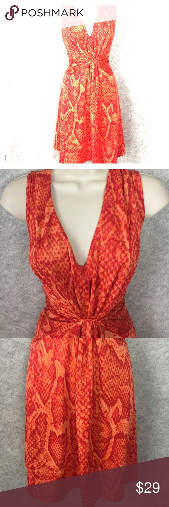 "XS SEXY Sofia Vergara CINCH SNAKESKIN DRESS Party Measurements laying flat  14"" chest 11.5"" waist 33"" long Sofia Vergara Dresses Midi"