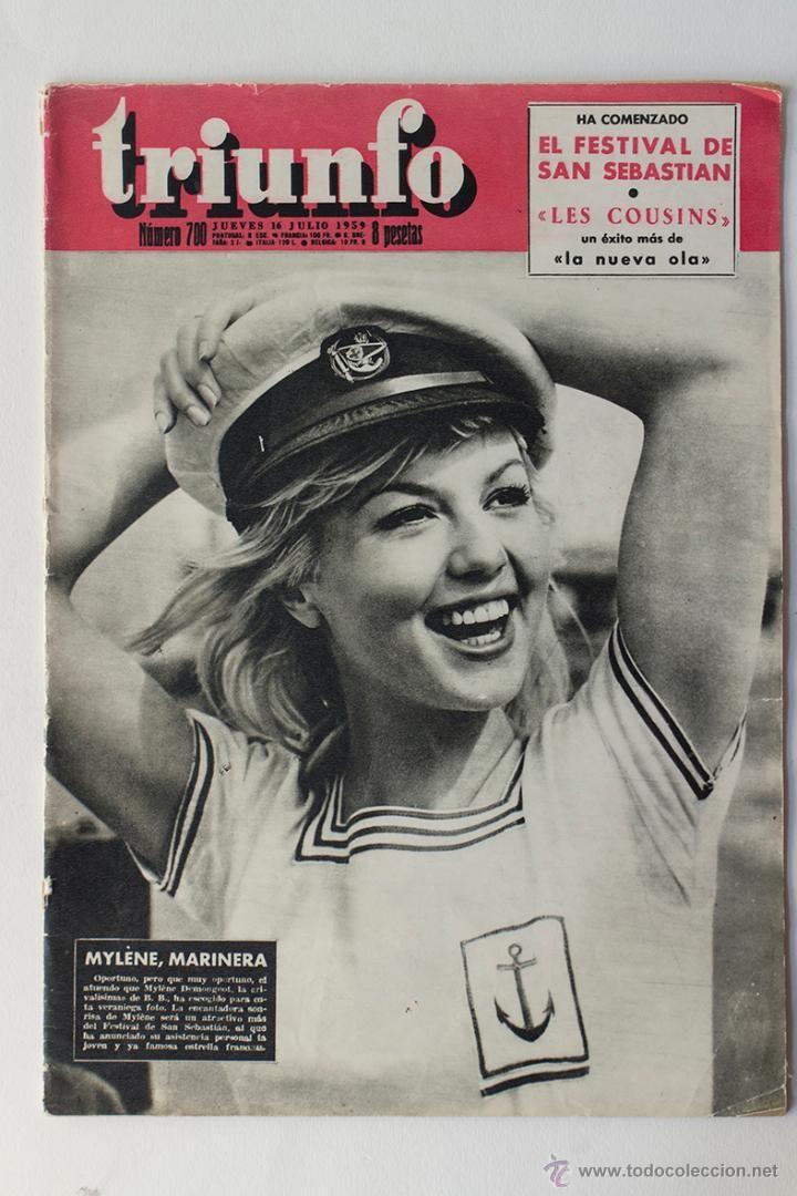 REVISTA TRIUNFO Nº 700 -MYLENE DEMONGEOT- FESTIVAL DE SAN SEBASTIAN 1959 - Foto 1