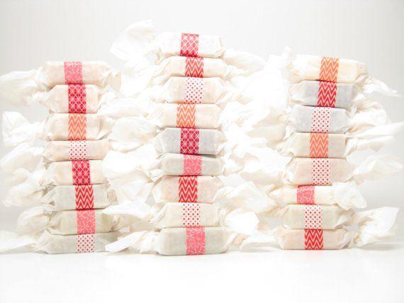 50 Best Bridal Shower Favor Ideas: wrapped soap favors (by swamp angel soap)
