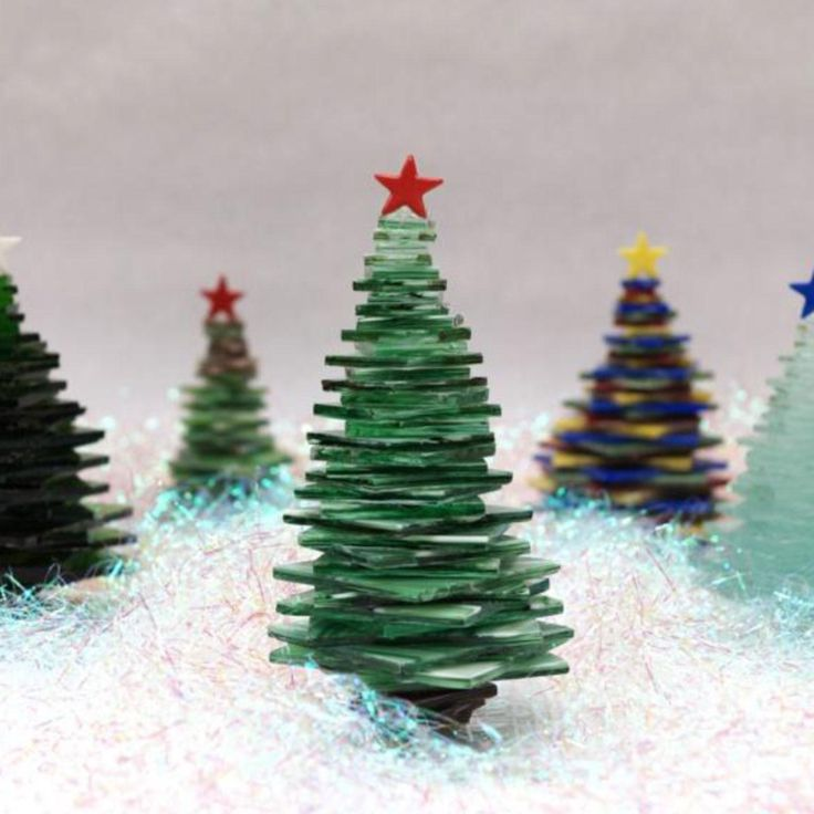 Free Stacked Glass Trees Project Guide from Delphi