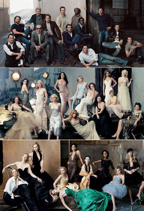 photo de groupe à la manière des photos promo de serie