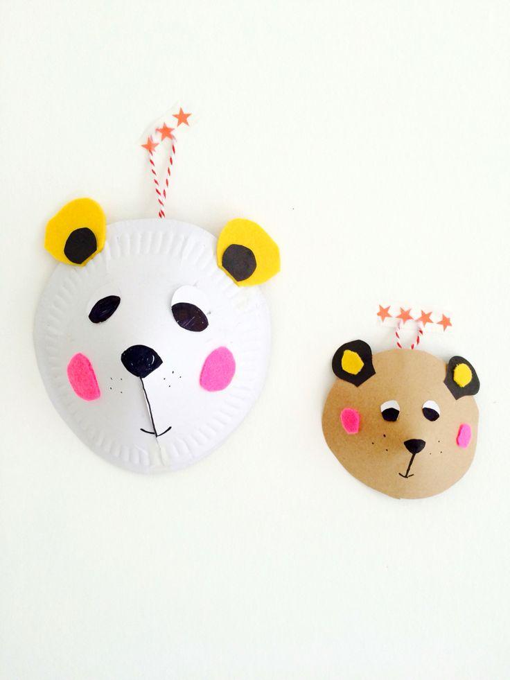 #january #crafteeki #animalheads #bears #workshop #clairepaveley