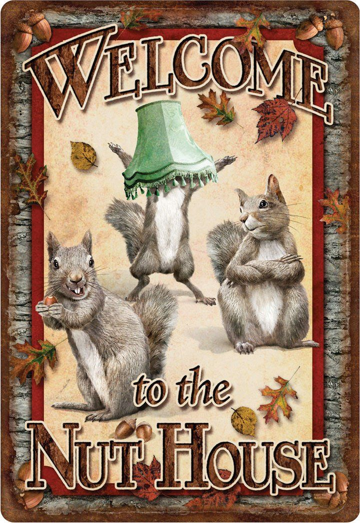 Welcome to the Nut House Squirrel Home Business Office Sign
