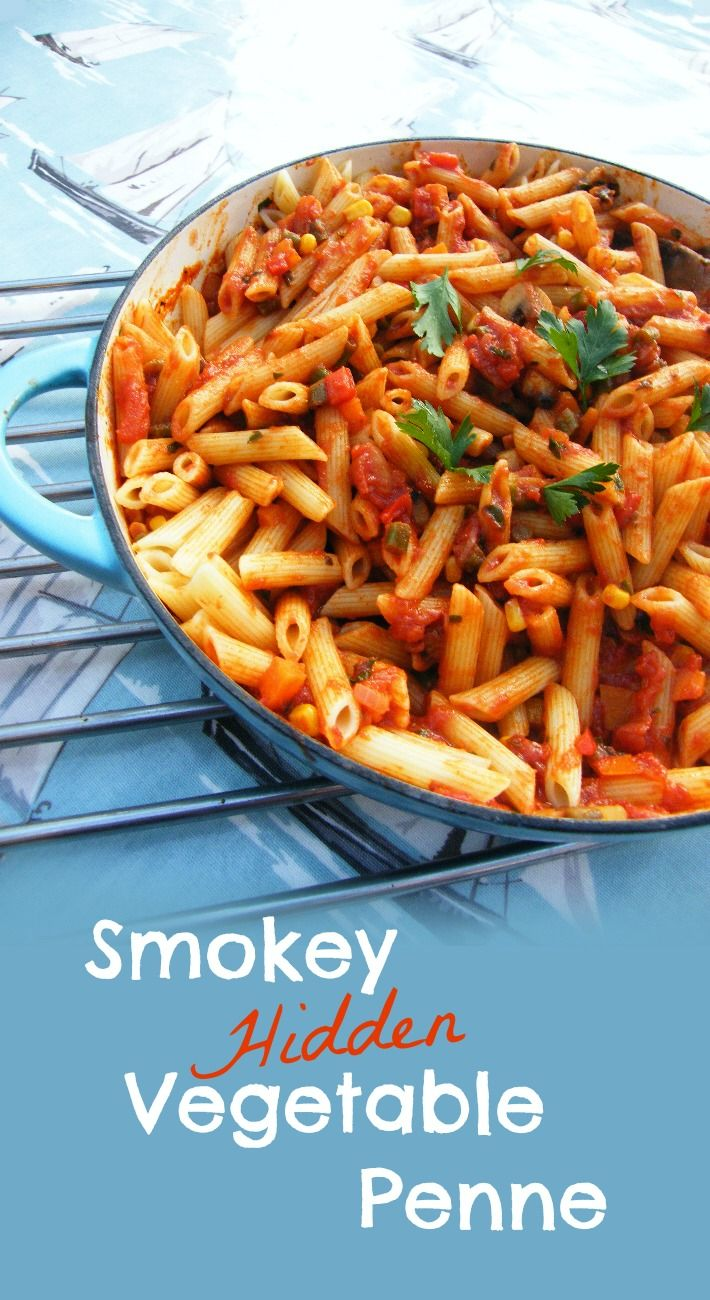 Want to sneak more veg into your family's diet? try this rich and tasty Smoky 'Hidden' Vegetable Penne with 7 vegetables.