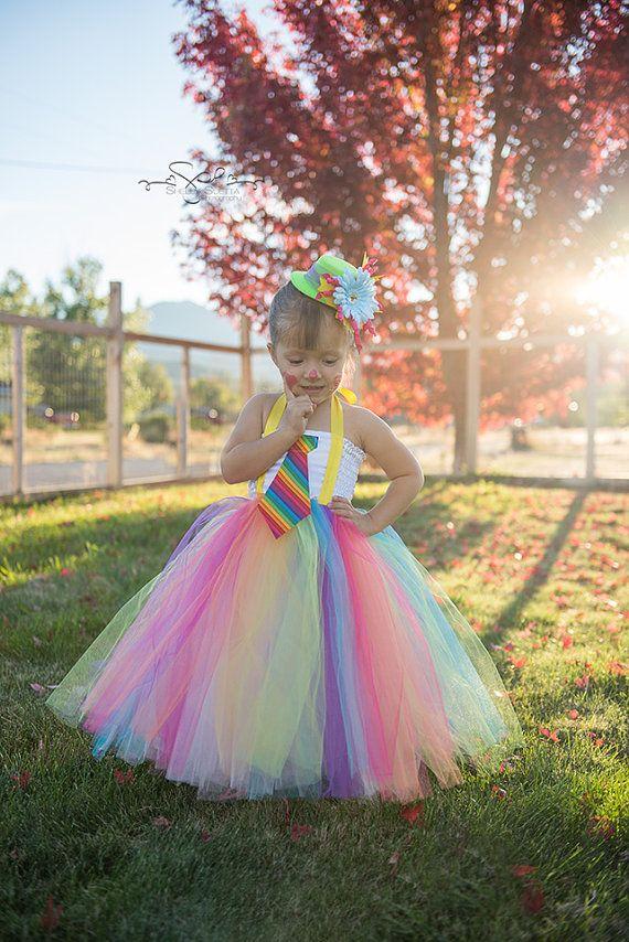 Arco iris payaso Vestido de traje del tutú con por CassidyChristy