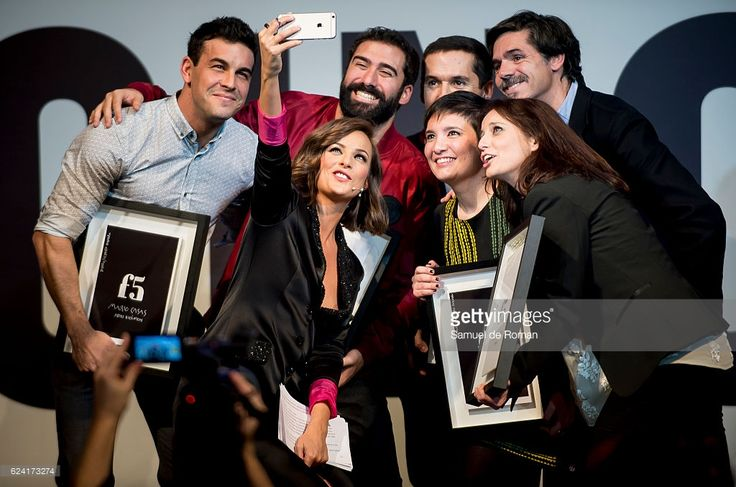 Mercedes Martin, Mario Casas, Jorge Cremades, Jorge Ruiz, Oyer Corazon and Andrea Levy attend 'Jovenes influyentes' Awards 2016 on November 16, 2016 in Madrid, Spain.
