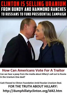 Who's in bed with Russia? Hillary is! Can we hear a peep from the media about Hillary's sell out to Russia in the…