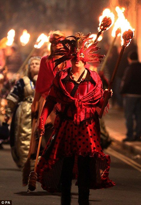 celebrations in Lewes, East Sussex