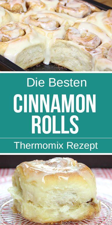 Amerikanische Cinnamon Rolls mit Frischkäse Topping – Einfach Himmlisch.