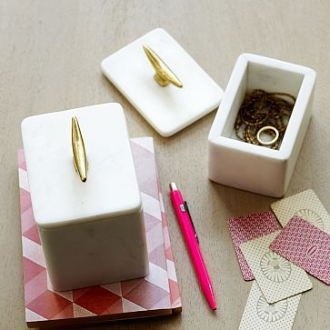 Marble Cleat Boxes #westelm