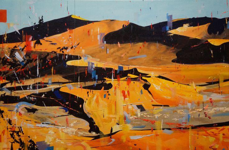 'My Desert Garden', oil on canvas, 50 x 70cm.