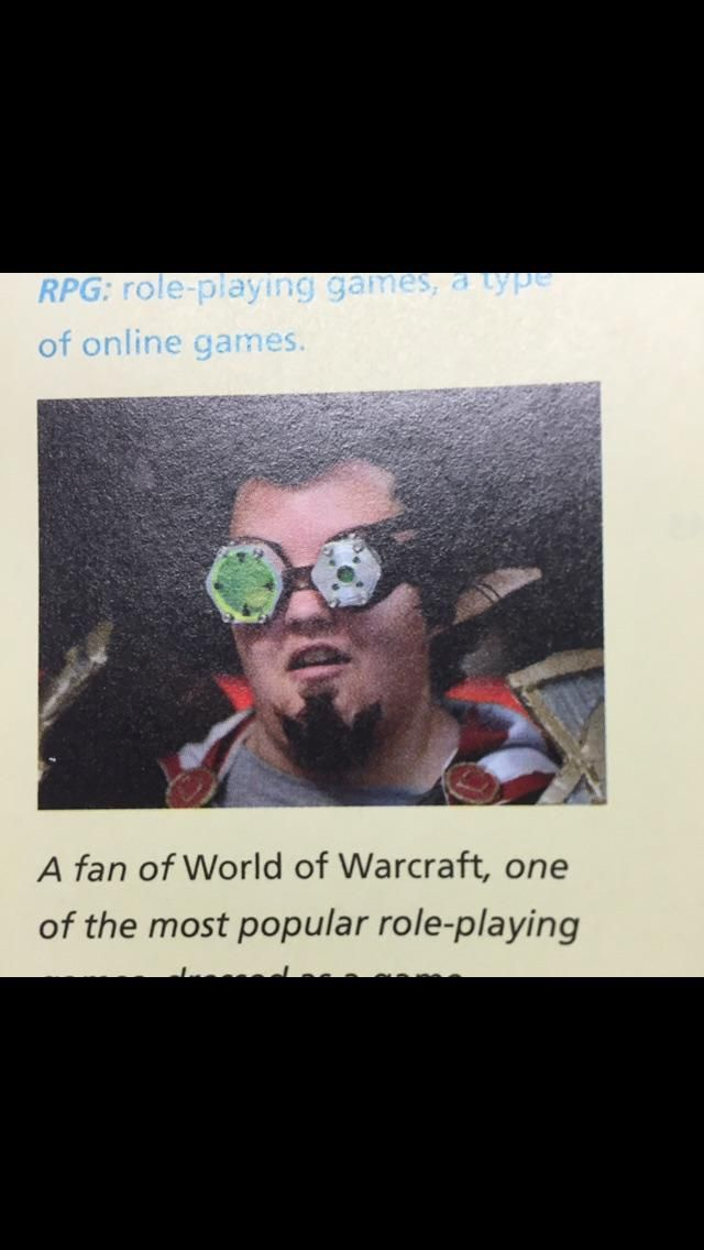From my senior year English textbook #worldofwarcraft #blizzard #Hearthstone #wow #Warcraft #BlizzardCS #gaming