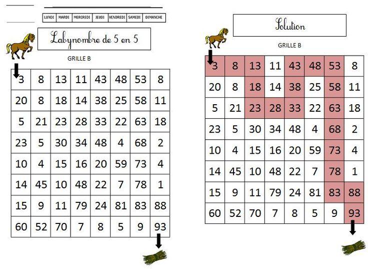 Labynombres de 5 en 5 série 1 | BLOG GS CP CE1 CE2 de Monsieur Mathieu JEUX et RESSOURCES