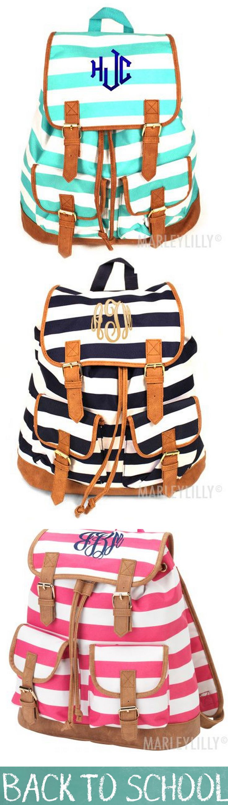 Looking for the perfect Back to School backpack? Want to preview your monogram before you buy? You can do it here! Visit www.Marleylilly.com and customize your backpack today!