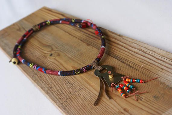 Rope Pendant Necklace Bohemian Ethnic Jewelry Metal Girl