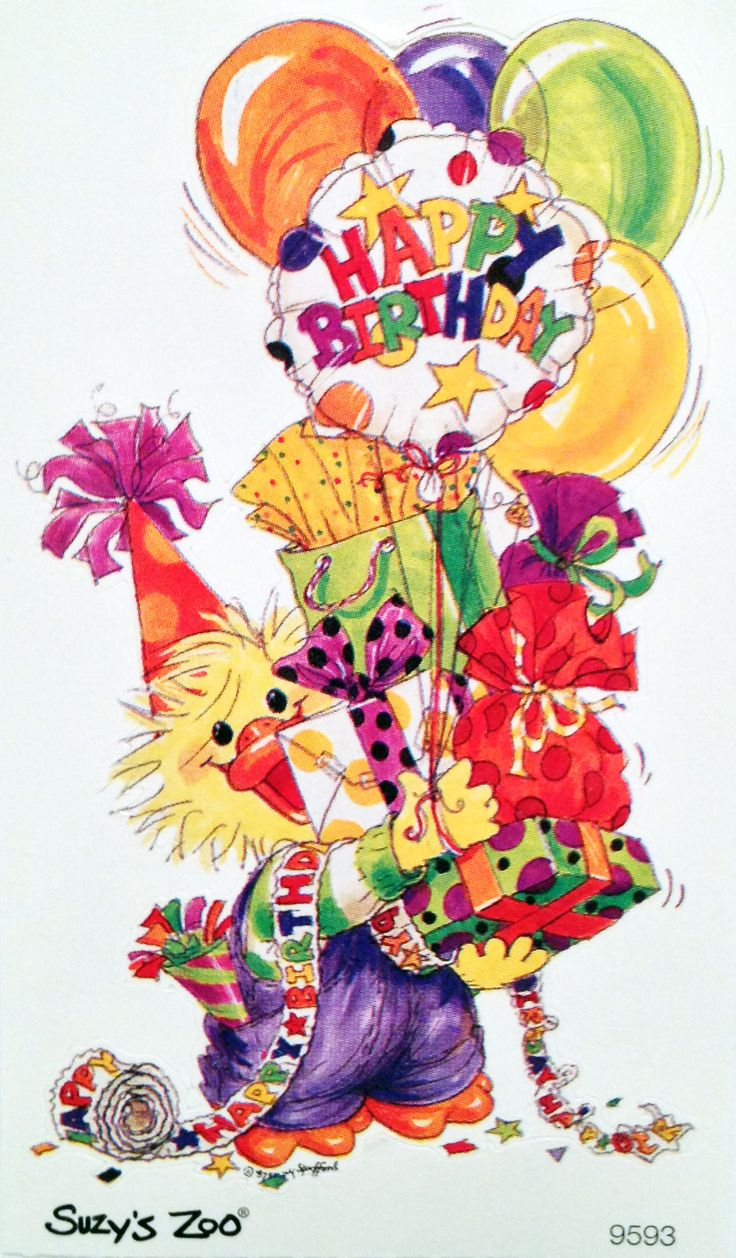 Current Suzy's Zoo birthday sticker