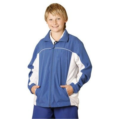 Kids' Microfibre Branded Sport Tracksuit Top Min 25 - Clothing - Sports Uniforms - Teamwear Tracksuits - WS-JK08Y1 - Best Value Promotional items including Promotional Merchandise, Printed T shirts, Promotional Mugs, Promotional Clothing and Corporate Gifts from PROMOSXCHAGE - Melbourne, Sydney, Brisbane - Call 1800 PROMOS (776 667)