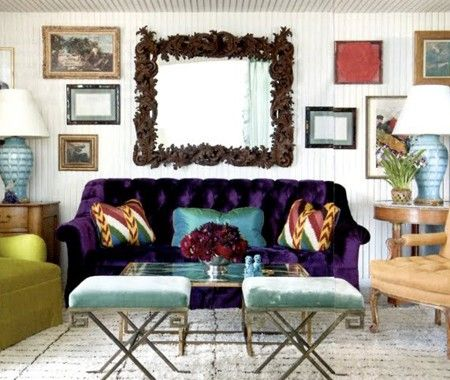 eclectic living room - House Beautiful Living Room Colors