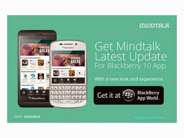 BlackBerry mengumumkan aplikasi MindLink, aplikasi instant messaging untuk bisnis sudah ada di BlackBerry World. Aplikasi ini memungkinkan para karyawan dalam tim untuk memberikan informasi, data, file, atau link. Kayaknya cocok nih dipakai para penjual online. http://www.dosenjualan.com/2014/07/MindLinkdanBlackBerryAssistantFiturBarudariyangBagusuntukJualanOnline.html